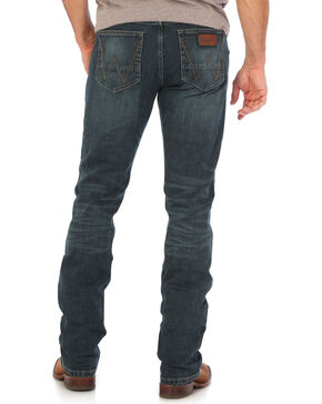 Wrangler Men's Indigo Retro Stretch Denim Slim Fit Simple Jeans - Boot Cut , Indigo, hi-res