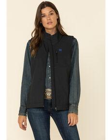 Cinch Women's Black Bonded Logo Vest , Black, hi-res