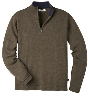 Mountain Khakis Men's Coffee Brown Lodge Crewneck Sweater , Brown, hi-res
