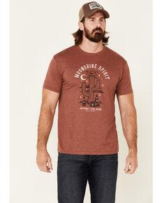 Moonshine Spirit Men's Cactus Bottles Graphic Short Sleeve T-Shirt , Medium Red, hi-res