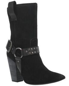 Dingo Women's Dancing Queen Harness Fashion Booties - Pointed Toe, Black, hi-res