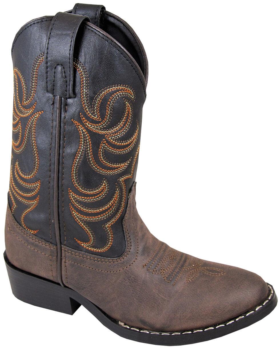 Smoky Mountain Boys' Monterey Western Boots - Round Toe, Brown, hi-res