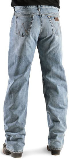 Wrangler Jeans - 20X Competition Laser Blue Denim Relaxed Fit, Bleach Indigo, hi-res