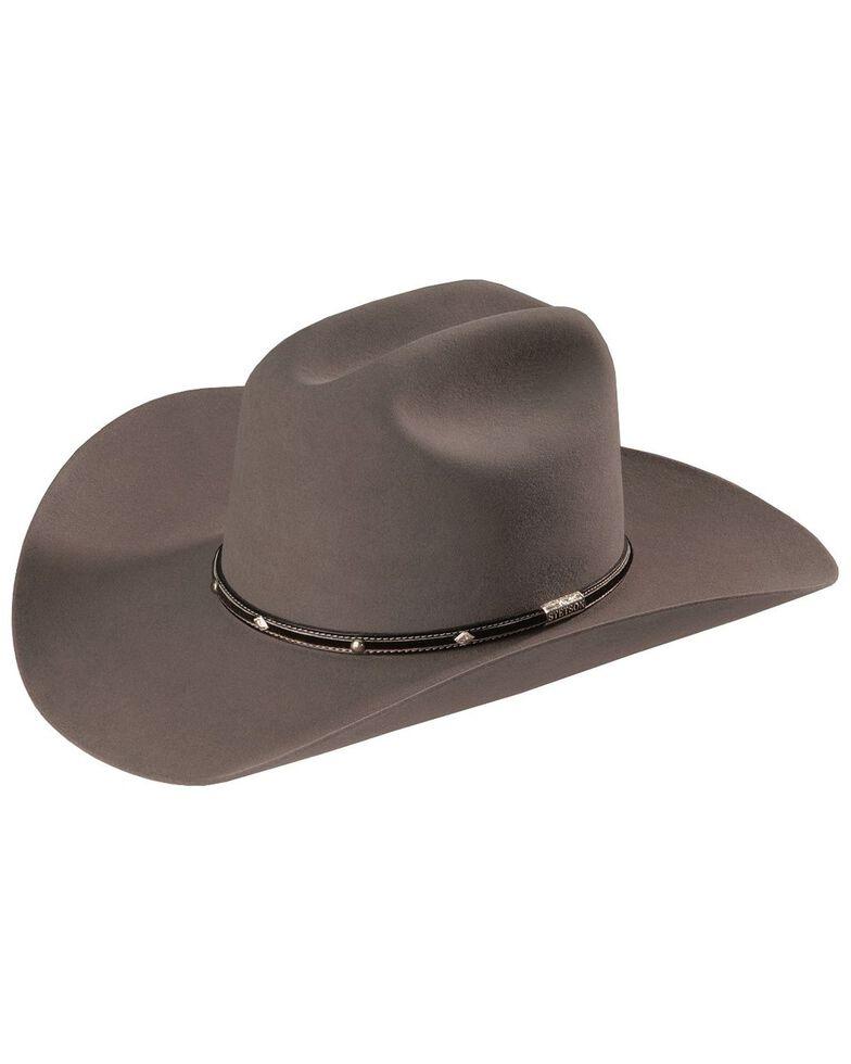 Stetson Men's Angus 6X Fur Felt Cowboy Hat, Grey, hi-res
