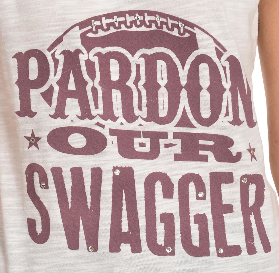 "ATX Mafia ""Pardon Our Swagger"" Tee - Maroon, Maroon, hi-res"