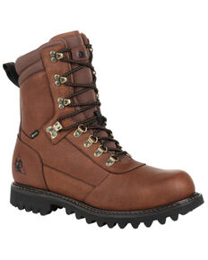 Rocky Men's Ranger Waterproof Outdoor Boots - Soft Toe, Brown, hi-res