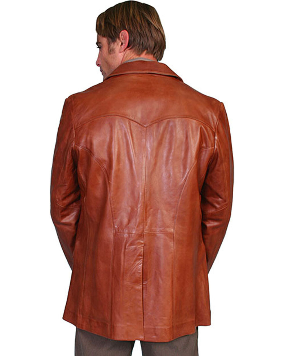 Scully Lamb Leather Blazer - Tall, Medium Brown, hi-res