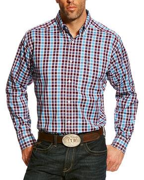 Ariat Men's Blue Plaid Arendale Western Shirt , Multi, hi-res