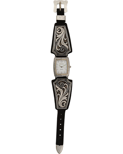 Montana Silversmiths Women's Western Lace Whisper Watch, Silver, hi-res