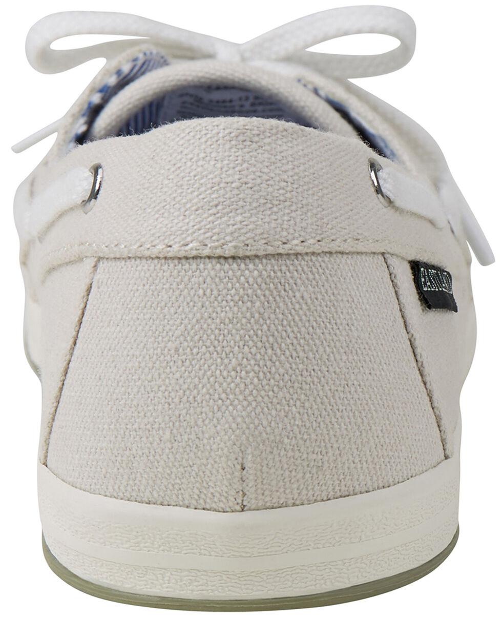 Eastland Women's Bone Skip Canvas Boat Shoe Slip-Ons , , hi-res