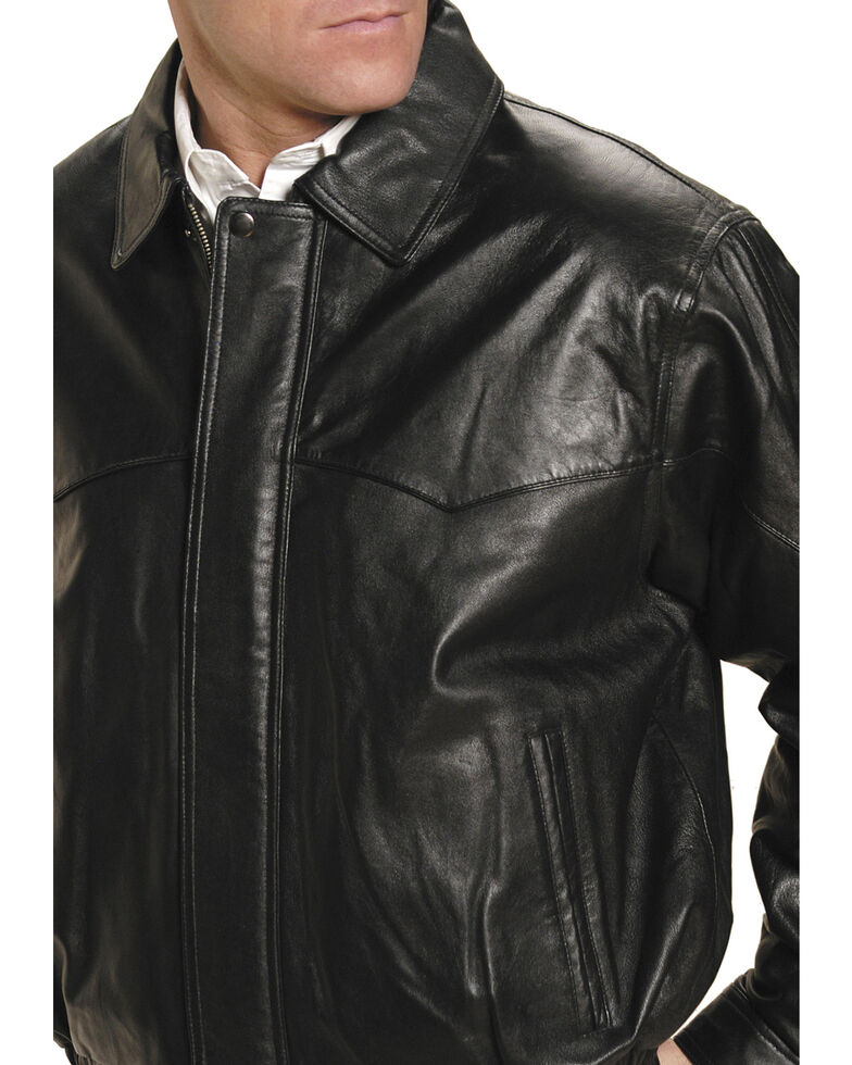 Roper Lamb Nappa Bomber Jacket - Big & Tall, Black, hi-res