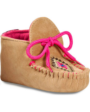 Blazin Roxx Infant Girls' Kendra Baby Bucker Booties - Moc Toe, Pink, hi-res