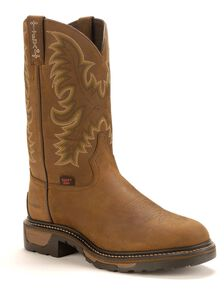 Tony Lama TLX Waterproof Work Boots - Steel Toe, Tan, hi-res