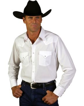 Ely Classic Western Shirt - Tall, Big/Tall - Custom Fit, Neck & Sleeve Sizing, White, hi-res