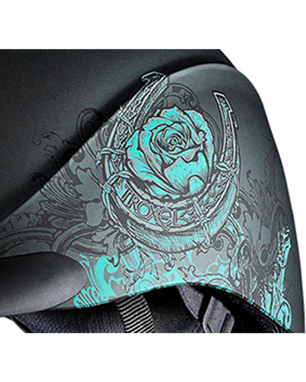 Troxel Women's Turquoise Rebel Rose Riding Helmet , Turquoise, hi-res