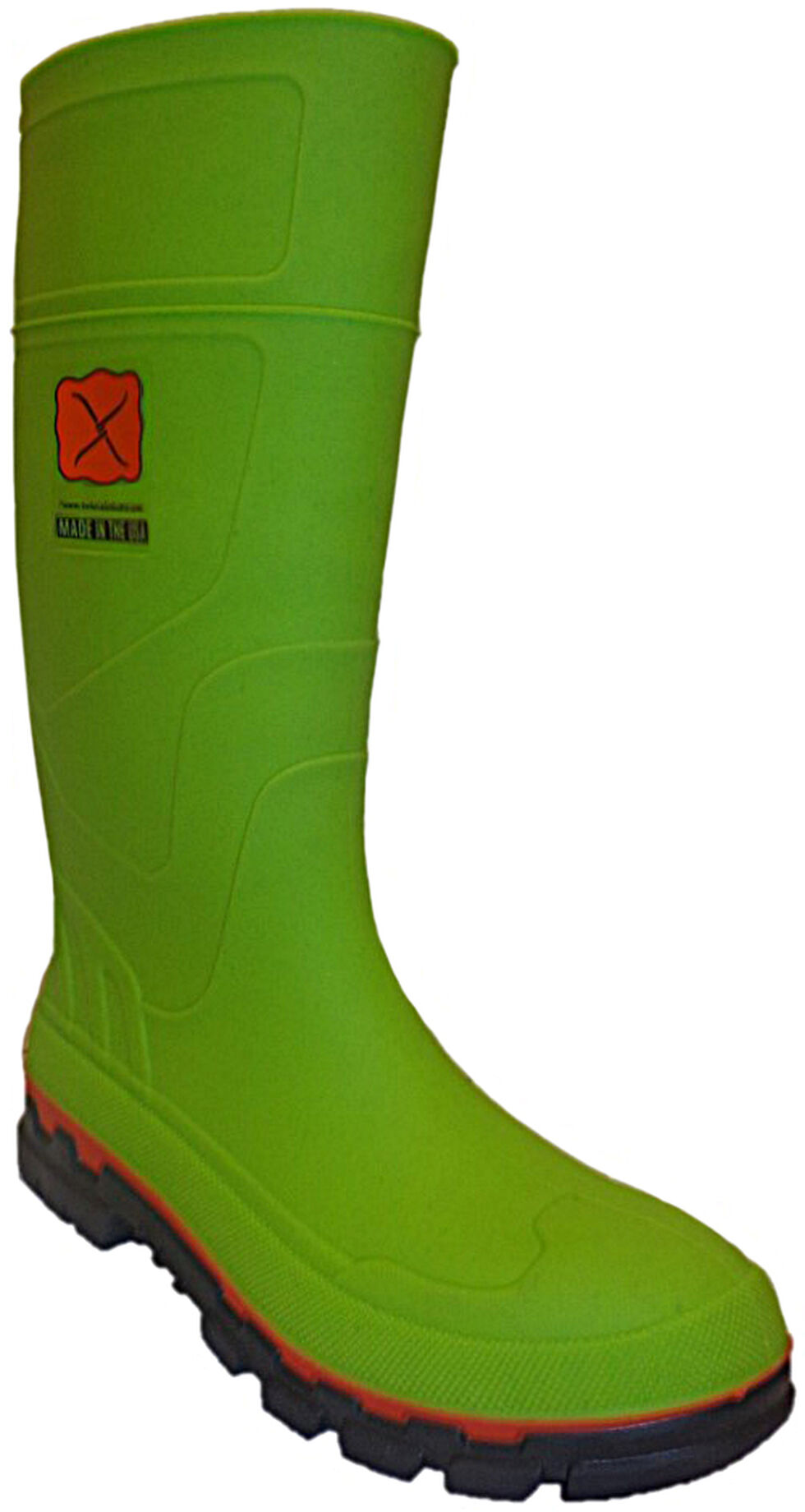 Twisted X Men's Mud Work Boots - Steel Toe, Lime, hi-res