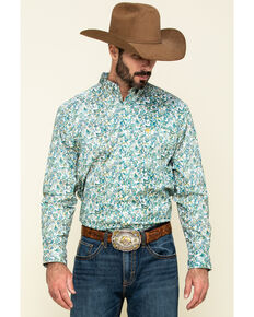 Ariat Men's Riverbank Stretch Paisley Print Long Sleeve Western Shirt , Multi, hi-res