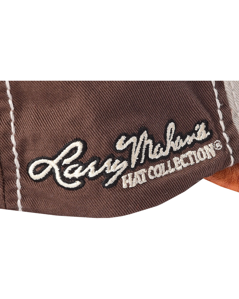 Larry Mahan Men's All Around Ostrich Print Cap, Brown, hi-res