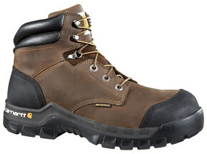 "Carhartt 6"" Composite Toe Rugged Flex Waterproof Work Boots, Dark Brown, hi-res"