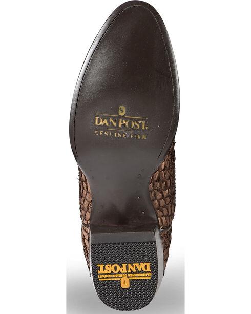 Dan Post Men's Chocolate Sea Bass Cowboy Boots - Round Toe, Chocolate, hi-res