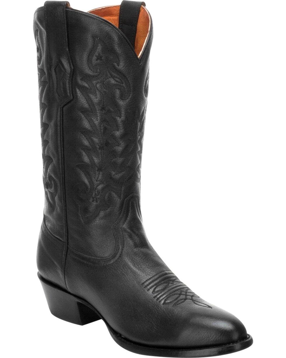 Corral Men's Black Comfort System Cowboy Boots - Round Toe, Black, hi-res