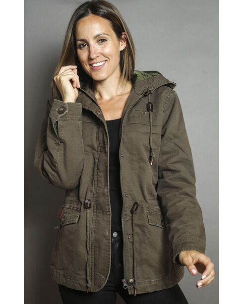 Kimes Ranch Women's Longrider Jacket, Olive, hi-res