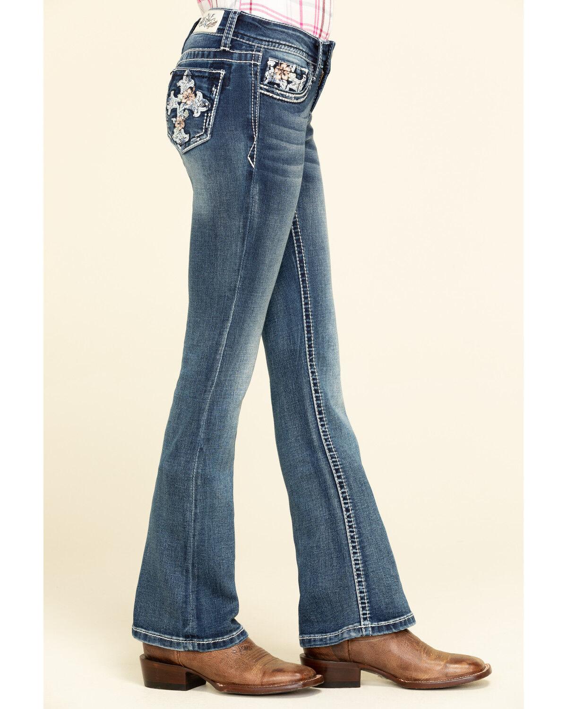 Grace in LA Girls Cross Pocket Bootcut Jeans