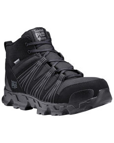 Timberland Pro Men's Powertrain Sport Work Boots - Alloy Toe, Black, hi-res