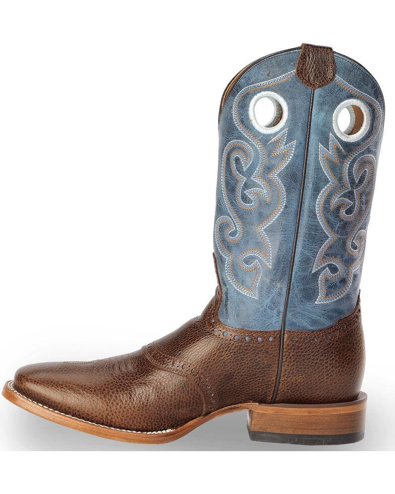 Cody James Men's Saddle Vamp Western Boots - Square Toe, Brown, hi-res