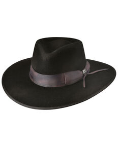Bullhide Black Calvary Charge Wool Felt Western Gambler Hat , Black, hi-res