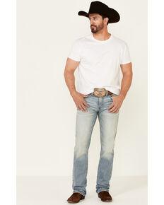 Moonshine Spirit Men's Wild West Light Wash Stretch Stackable Straight Jeans , Blue, hi-res