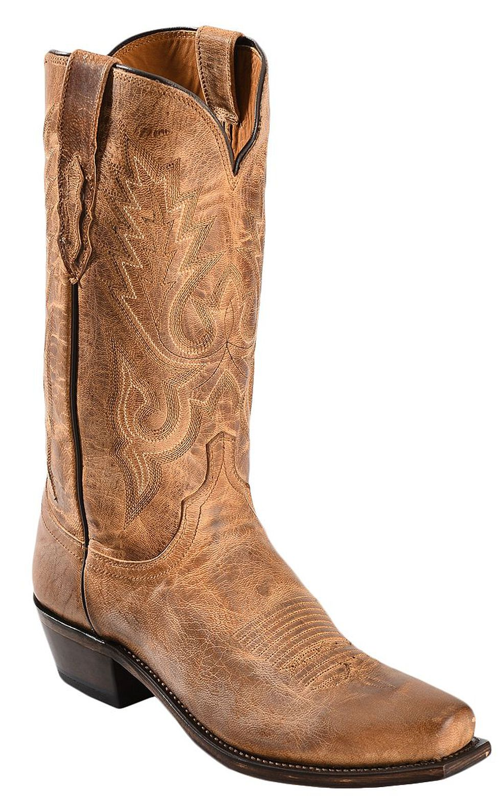 Lucchese Handmade 1883 Mad Dog Goatskin Cowboy Boots - SnipToe, Tan, hi-res