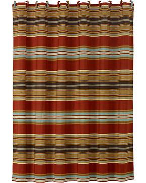HiEnd Accents Calhoun Striped Shower Curtain, Multi, hi-res