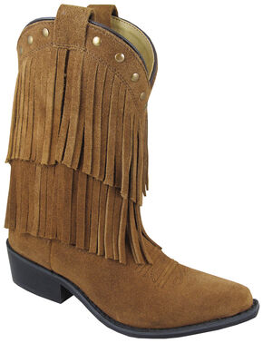 Smoky Mountain Youth Girls' Wisteria Western Boots - Medium Toe, Brown, hi-res