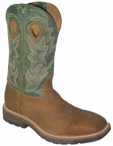 Twisted X Lite Waterproof Pull-On Work Boots - Steel Toe, Tan, hi-res