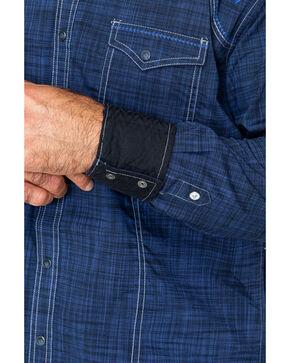 Rock 47 By Wrangler Vintage Embroidered Snap Long Sleeve Shirt, Black/blue, hi-res