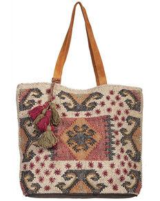 Scully Women's Multicolored Woven Suede Trim Handbag, Multi, hi-res
