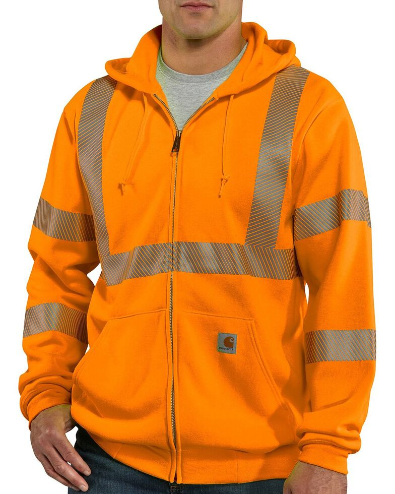 Carhartt Men's High-Visibility Class 3 Thermal Lined Work Jacket, Orange, hi-res