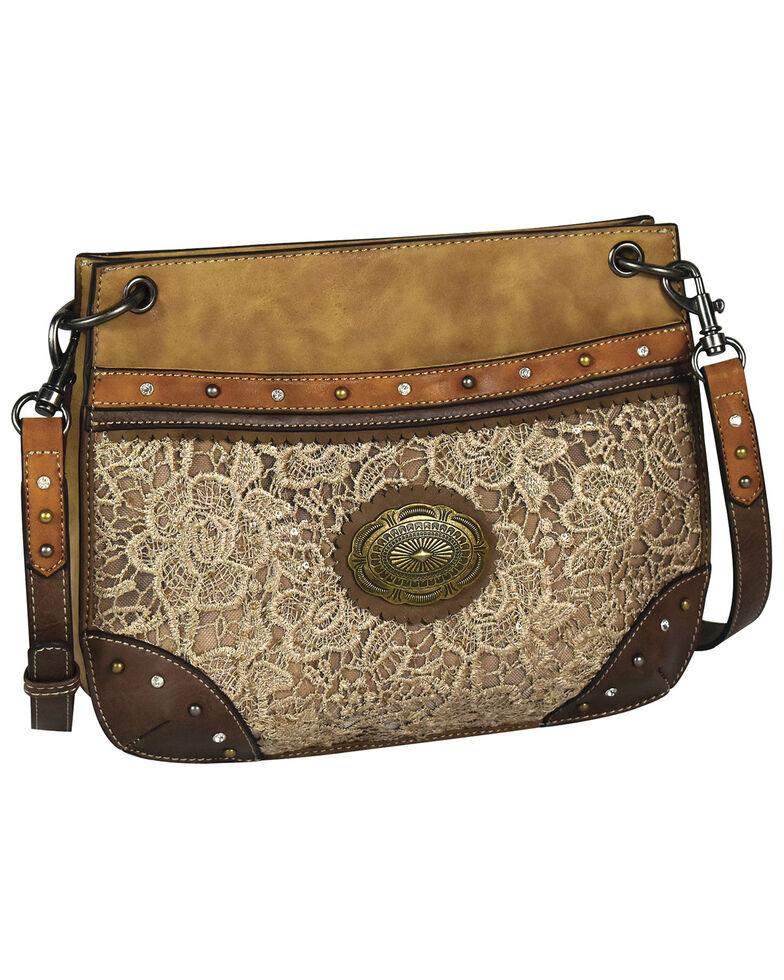 Justin Women's Tonal Lace Shoulder Bag, Tan, hi-res