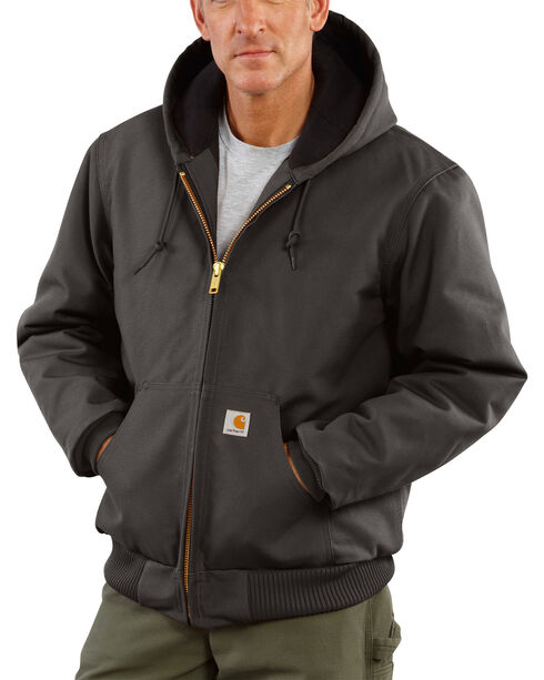 Carhartt Quilted Flannel Lined Duck Active Jacket, Grey, hi-res