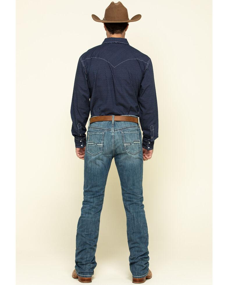Cinch Men's Carter 2.0 Stonewash Performance Relaxed Bootcut Jeans , Indigo, hi-res
