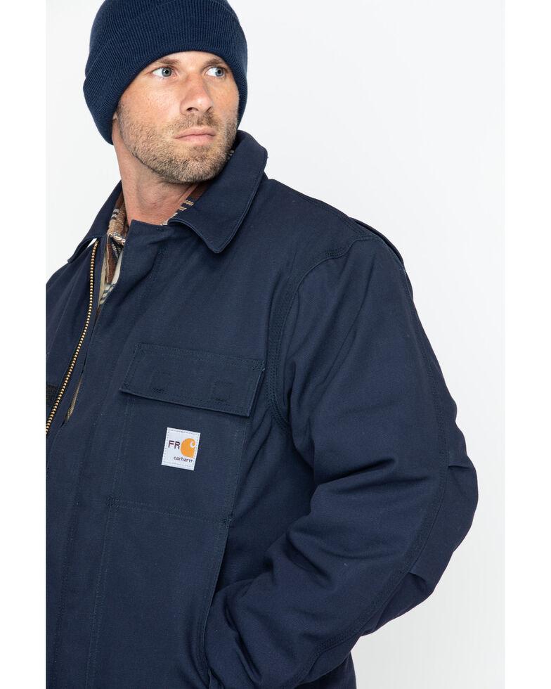 Carhartt Flame-Resistant Duck Traditional Coat - Big & Tall, Navy, hi-res