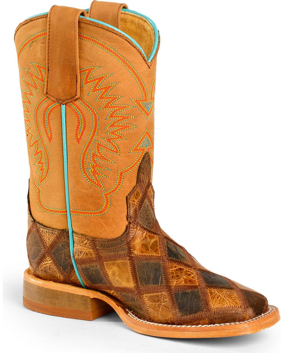 Anderson Bean Boys' Crazy Train Patchwork Boots - Square Toe, Multi, hi-res