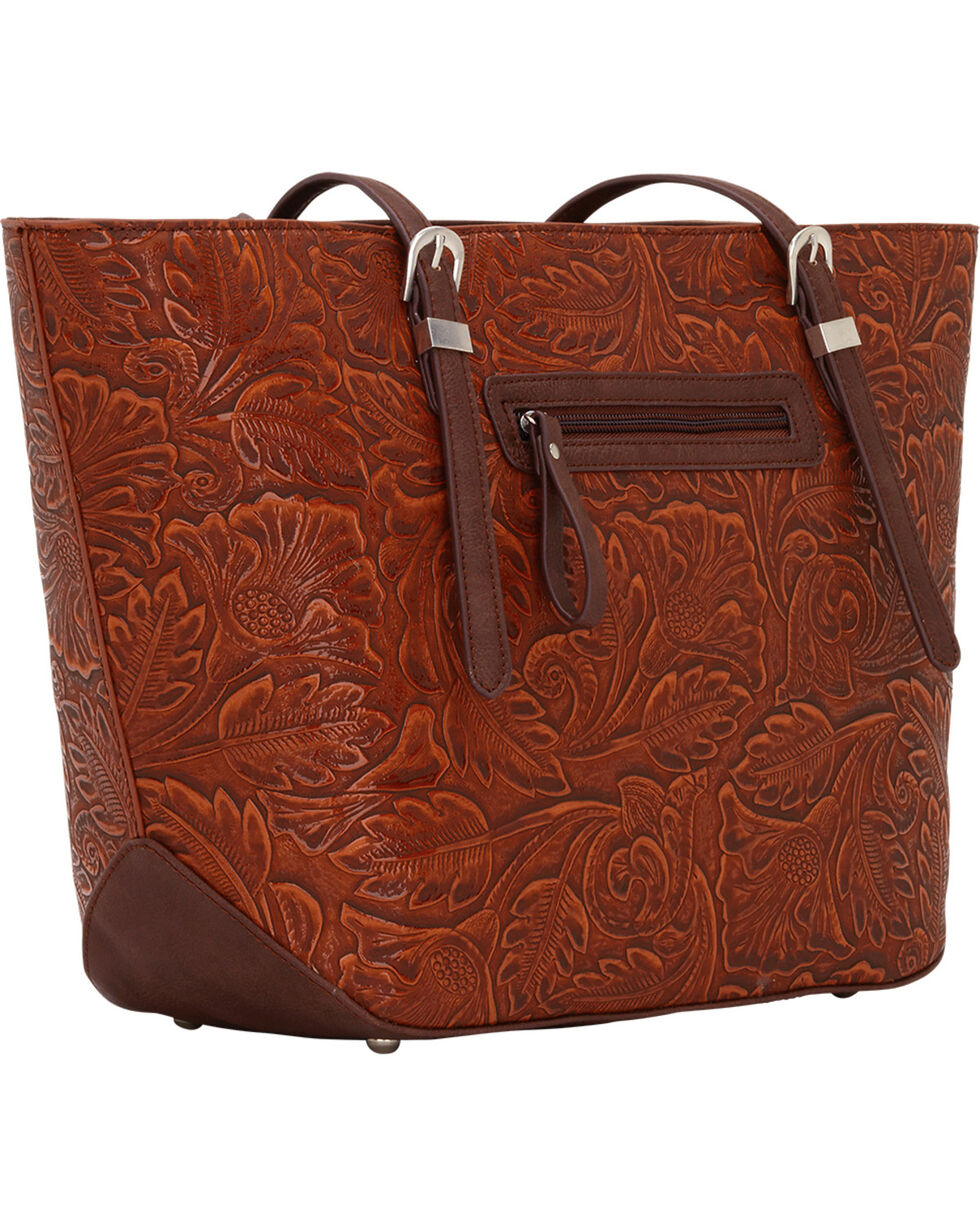 Bandana by American West Dallas Orange Sun Zip Top Tote , Orange Sun, hi-res