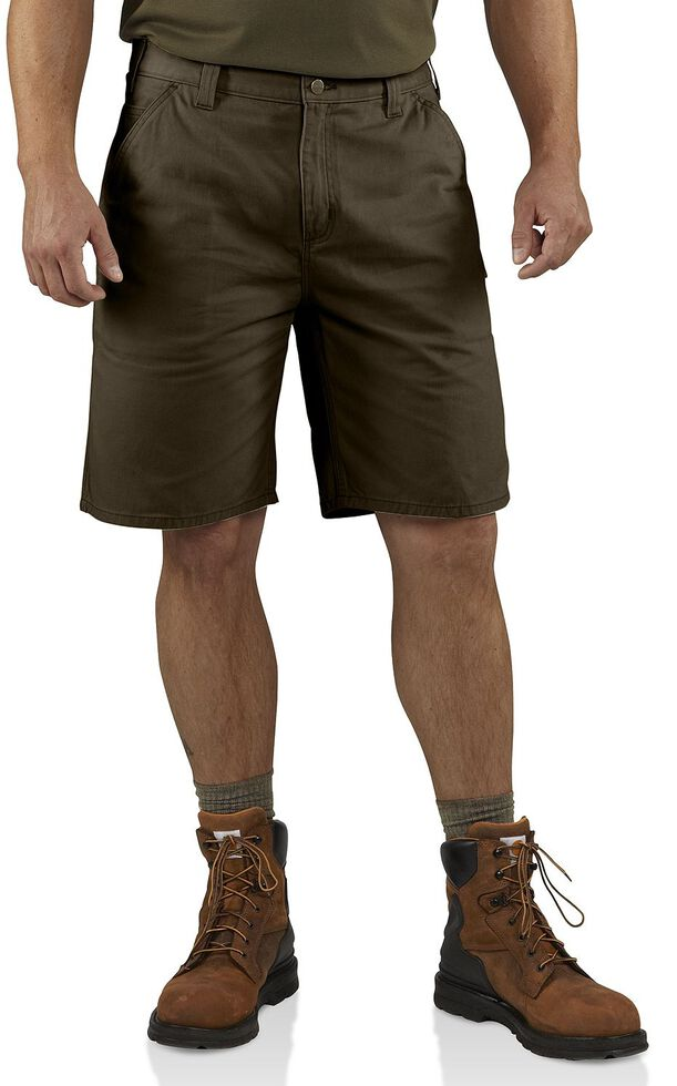 Carhartt Washed Twill Dungaree Shorts, Coffee, hi-res