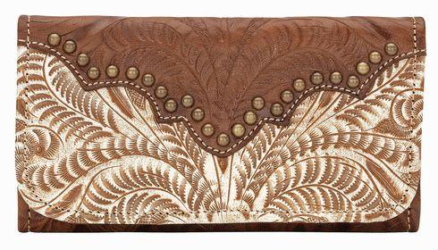 American West Annie's Secret Tri-fold Wallet, Cream, hi-res