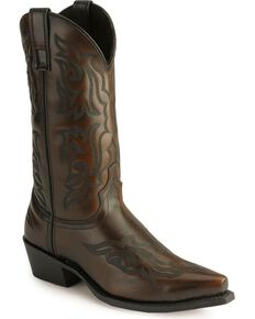 Laredo Hawk Cowboy Boots, Burnt Apple, hi-res