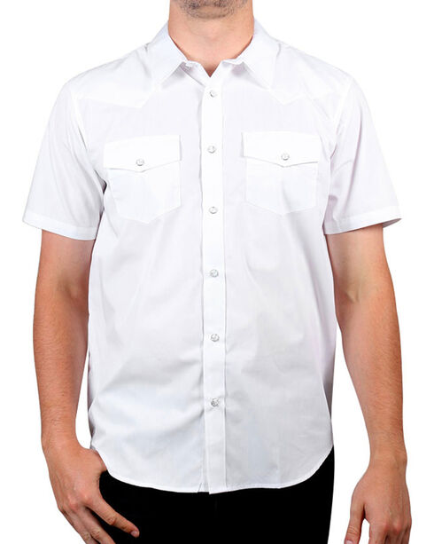 Gibson Trading Co. Men's White Water Short Sleeve Shirt, White, hi-res