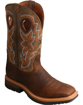 Twisted X Men's Lite Cowboy Work Boots - Alloy Toe, Taupe, hi-res