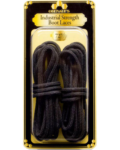 "Obenauf's Industrial Strength 72"" Boot Laces, Black, hi-res"